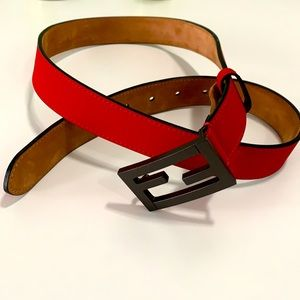 Tailored but never worn Fendi Baguette belt - RED